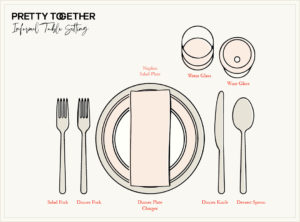 How to set an informal dinner table
