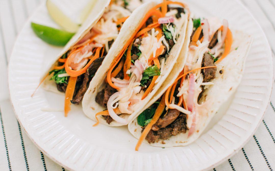 Korean BBQ Beef Tacos (Bulgogi Tacos)