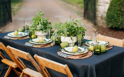 A BOUNTIFUL SUMMER DINNER TABLE