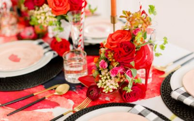 A PRETTY PREPPY TABLE SETTING