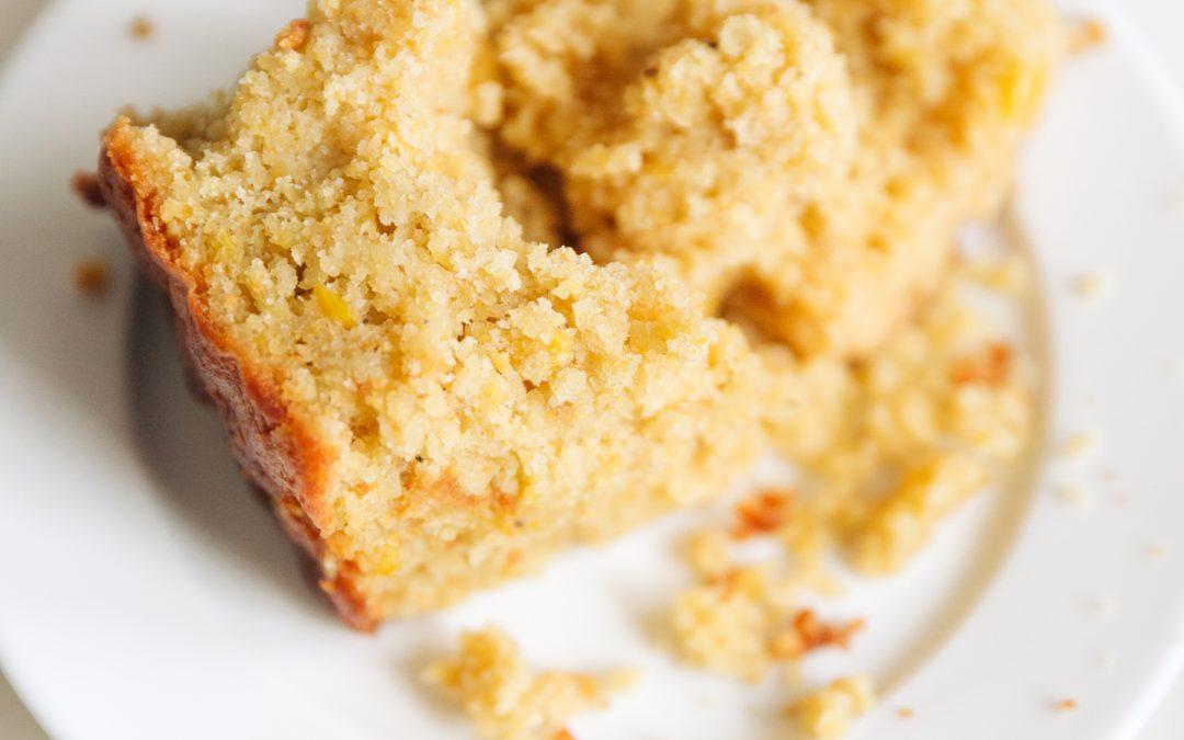 Sweet Sour Cream and Honey Cornbread