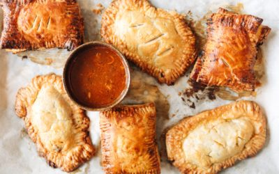 Irish Beef Stew Hand Pies with Goat Cheese