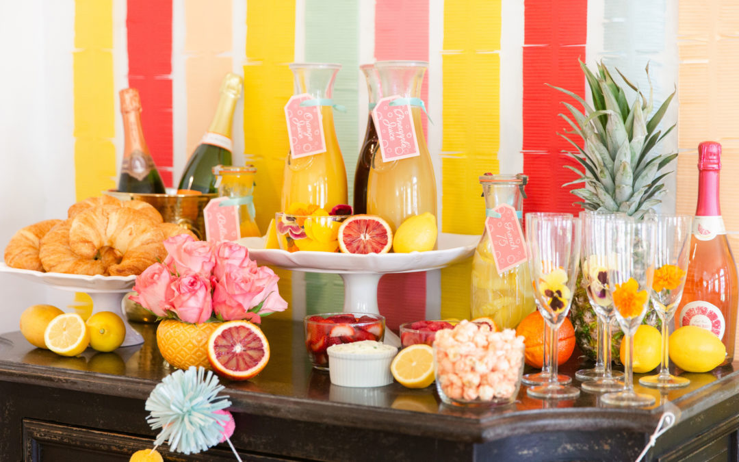 A Fun and Easy Champagne Cocktail Bar
