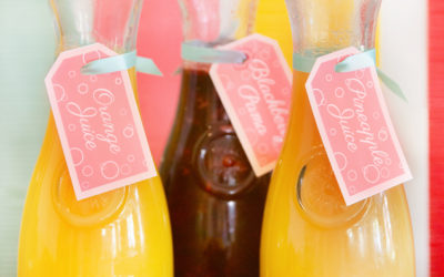 Bubbly Beverage Tags